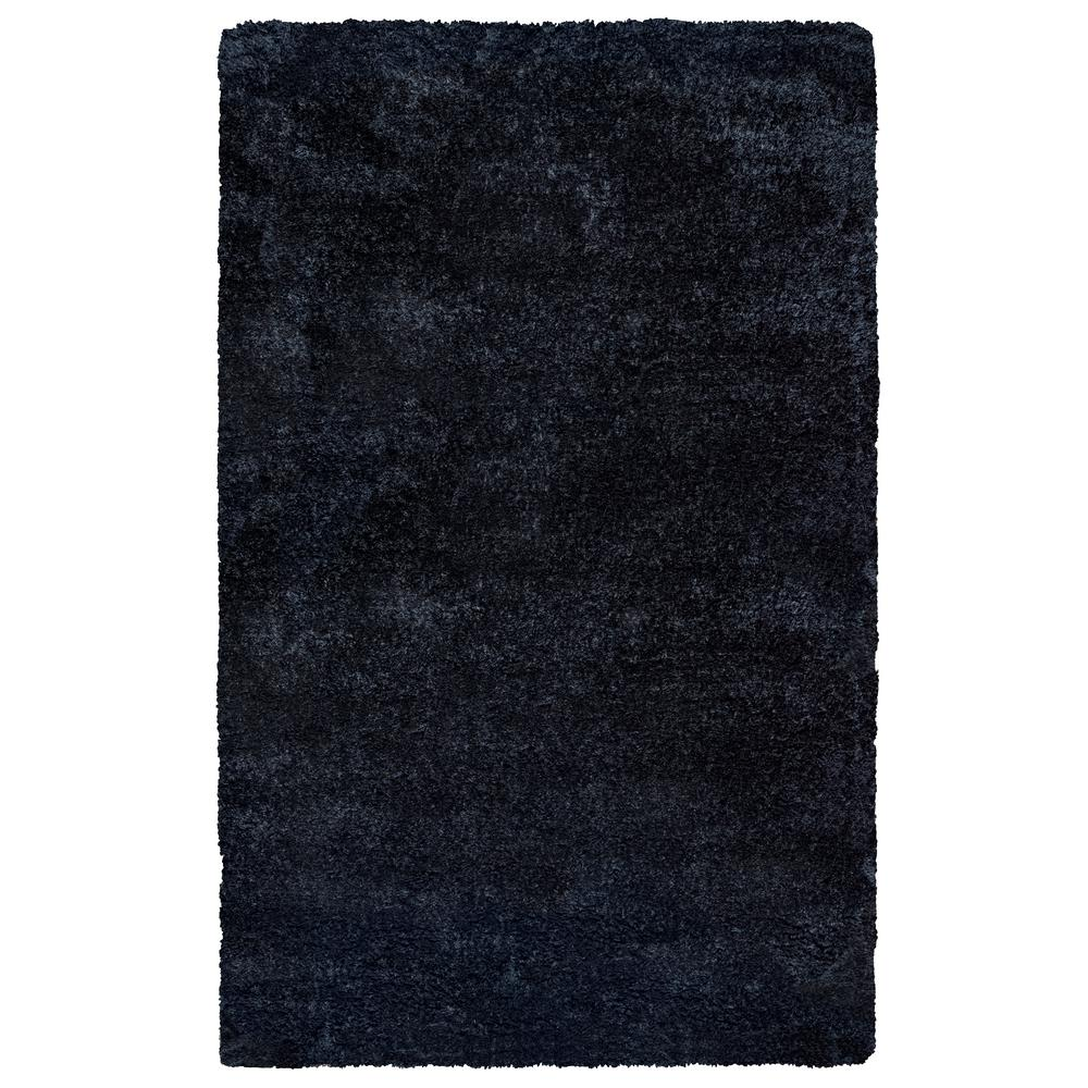 Commons Black Polyester Shag 9 ft. x 12 ft. Area Rug