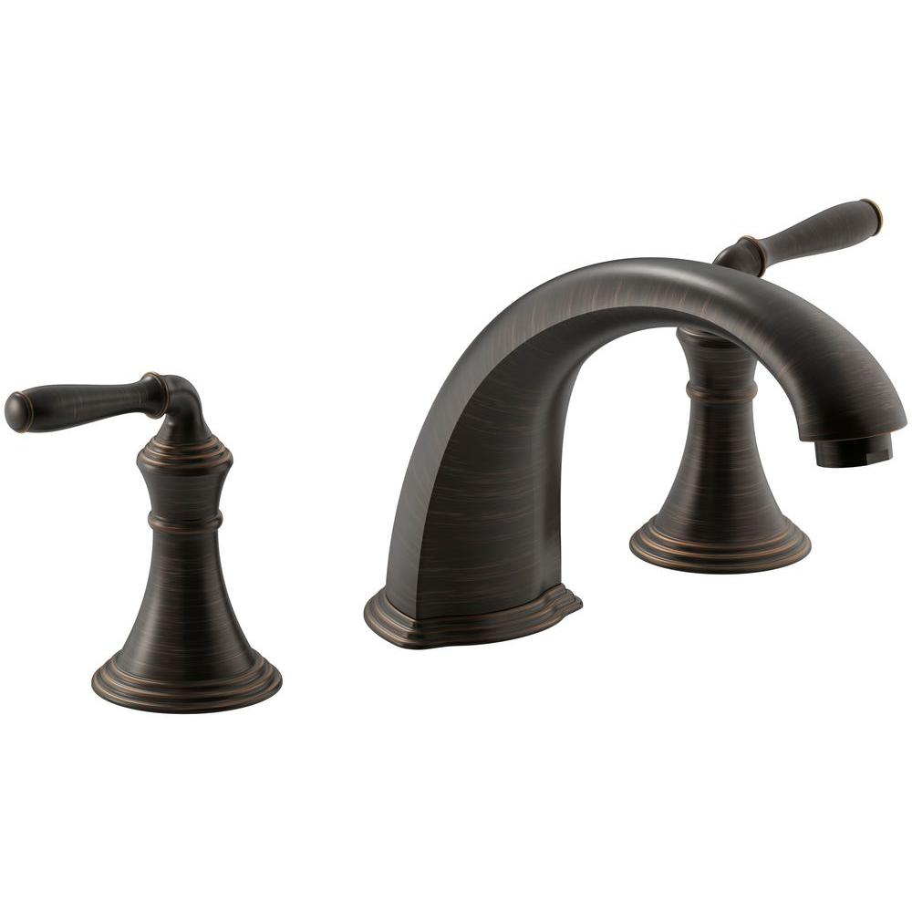 Kohler Devonshire 2-Handle Deck and Rim-Mount Roman Tub Faucet Trim ...