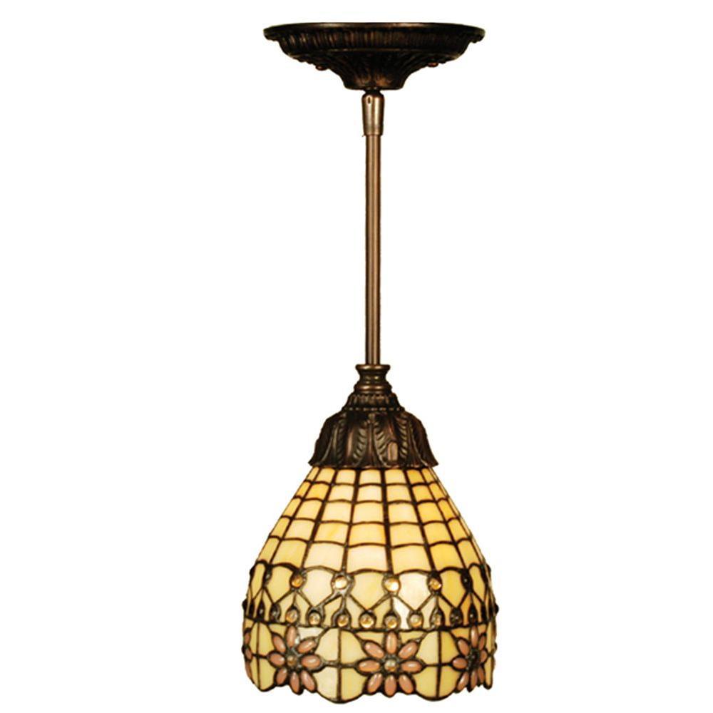 Illumine 1 Light Victorian Flourish Mini Pendant