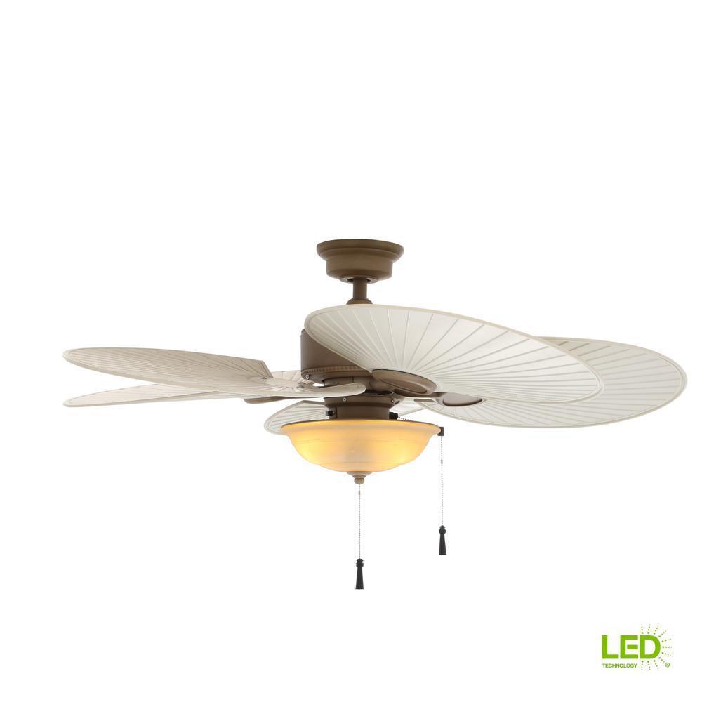 Bronze Havana Abs Blade Tropical Indoor Outdoor Ceiling: TroposAir Titan 72 In. Indoor/Outdoor Pure White Ceiling