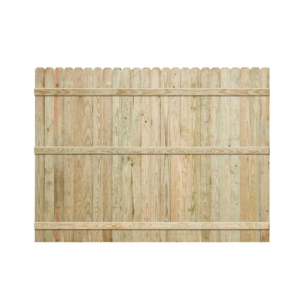 Pressure Treated Pine Dog Ear Fence Panel The Home Depot