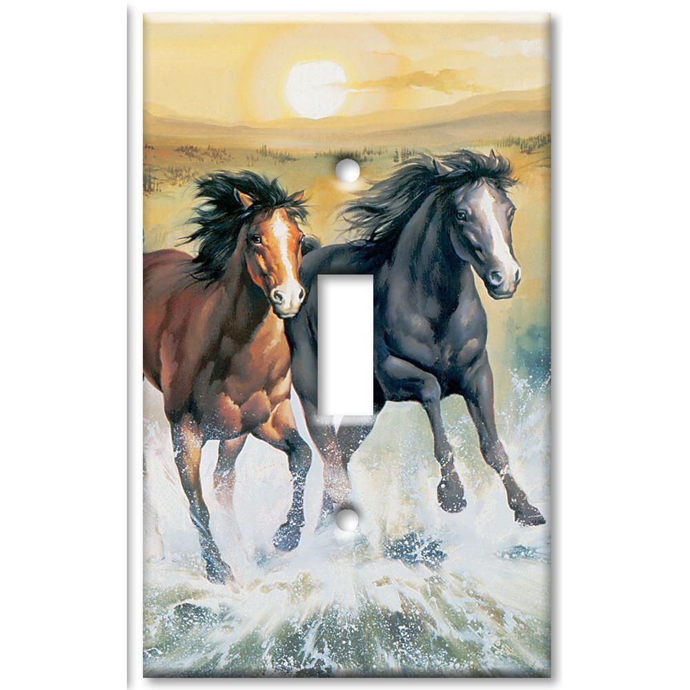 Art Plates Horses 1 Toggle Wall Plate