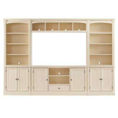 Edinburgh 6 Piece Ivory Modular Entertainment Center