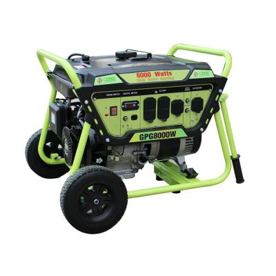 Green Power 8000/6500-Watt Gasoline Powered Recoil Start Portable Generator with LCT 420cc 15HP Engine, 3in1 Indicator