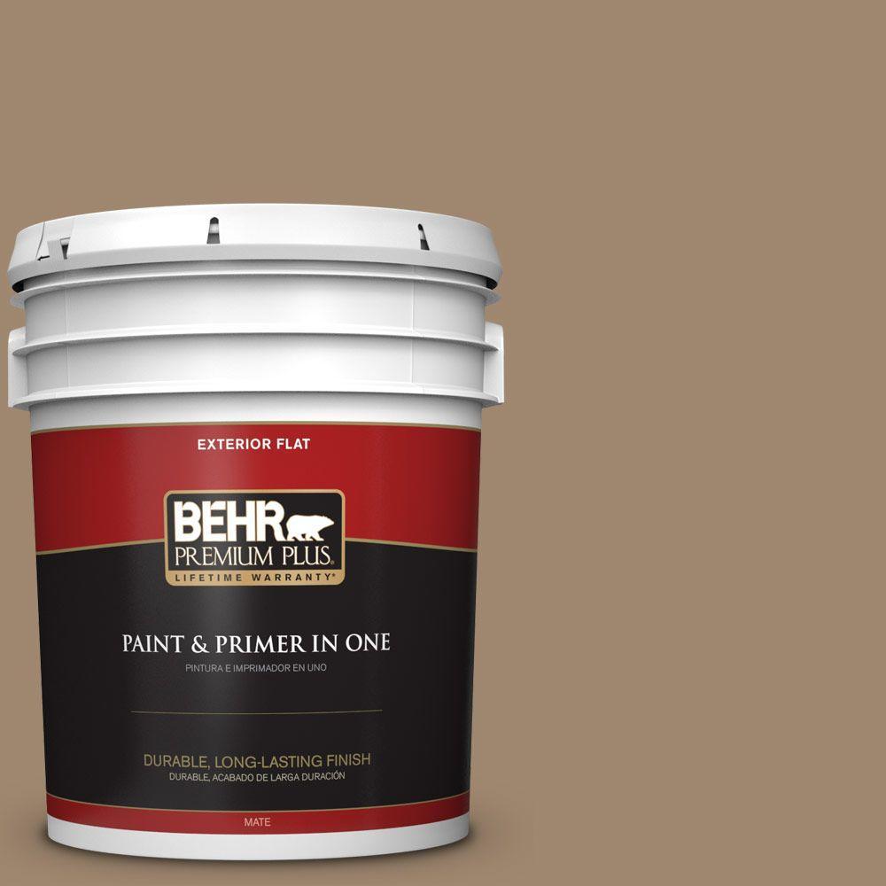 5-gal. #700D-5 Toffee Crunch Flat Exterior Paint