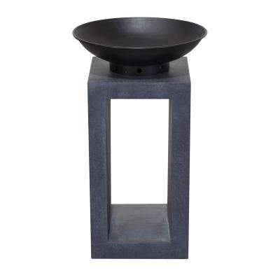 16 in. x 26 in. Rectangular  Magnesium Oxide Wood Burning Midas Fire Pit in Dark Granite