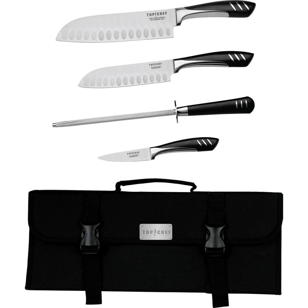 5-Piece Portable Knife Set in Stainless Steel