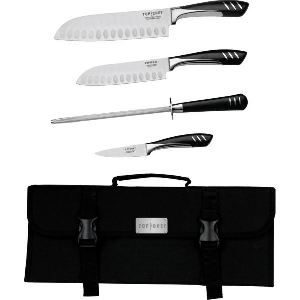 5-Piece Portable Knife Set in Stainless Steel HW031016