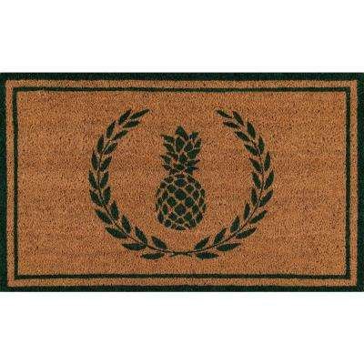 Park Pineapple Green and Natural 1 ft. 6 in. x 2 ft. 6 in. Indoor/Outdoor Doormat
