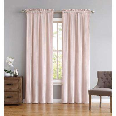 Everyday Pleated Velvet Drape Sets Blush Set