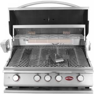 Click here to buy Cal Flame 4-Burner Built-in Propane Gas Grill in Stainless Steel with Accessory Kit by Cal Flame.