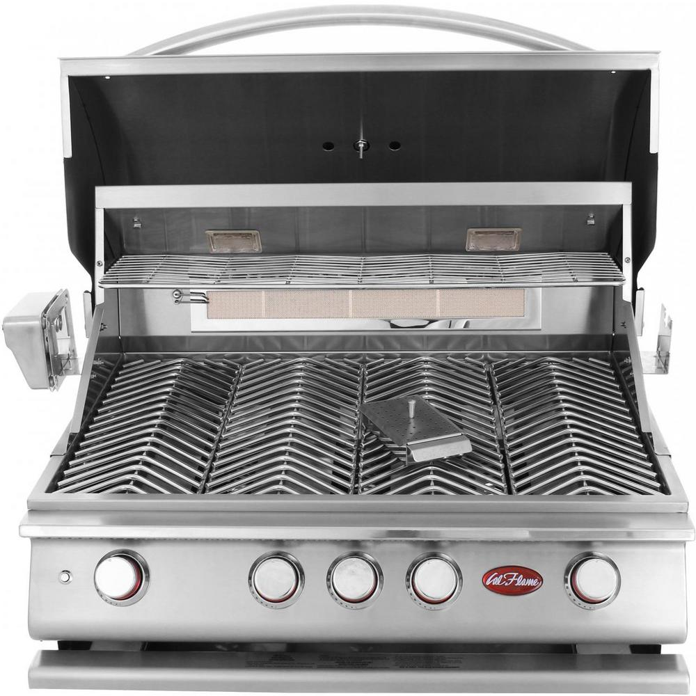 4-Burner Built-in Propane Gas Grill in Stainless Steel with Accessory Kit