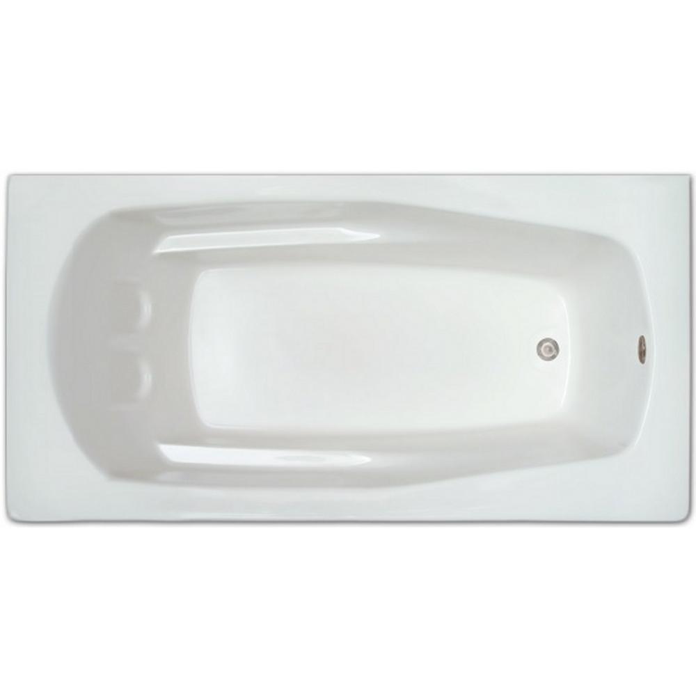 Pinnacle 5-1/2 ft. Acrylic Rectangular Drop-in Non-Whirlpool Bathtub ...