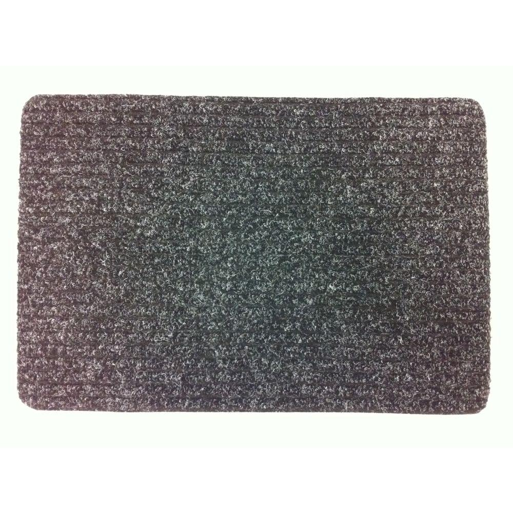 TrafficMASTER Rib-It Charcoal 18 in. x 27 in. Door Mat