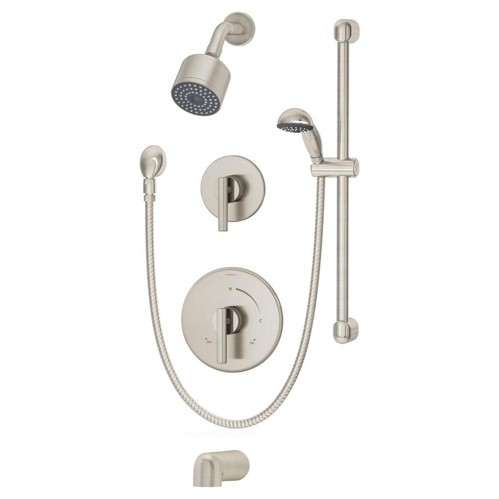balanced pressure with symmons canterbury valve central z brass fitting handle hand included diverter p shower combos on faucet bathtub s faucets centers in and chrome tub spray