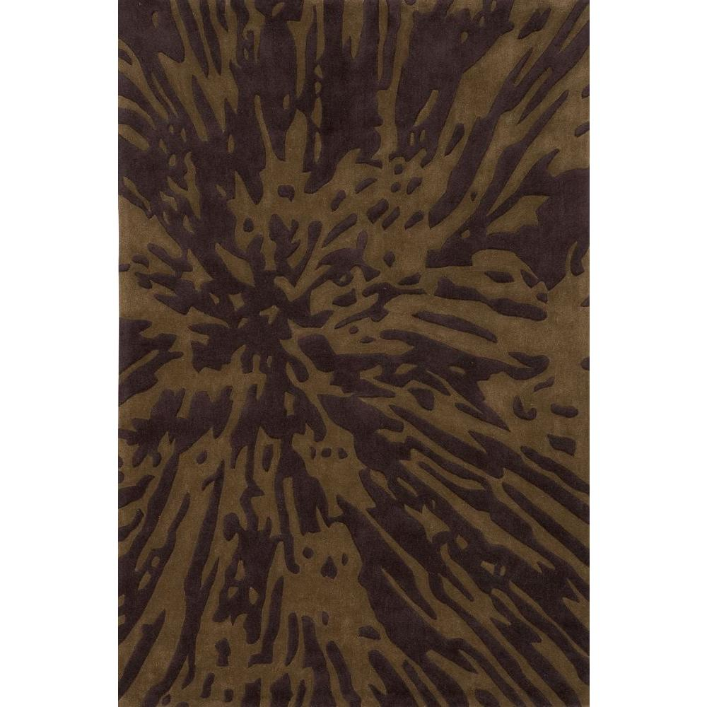 Momeni Ibiza Collection Earth Brown 5 ft. x 7 ft. 6 in. Indoor Area Rug