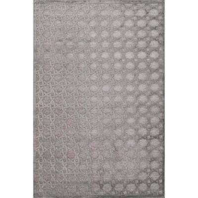 Machine Made Wild Dove 9 ft. x 12 ft. Trellis and Chain Area Rug