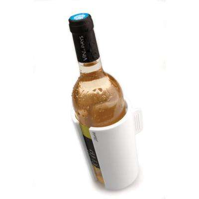 White Plastic Wine Cooling Clip