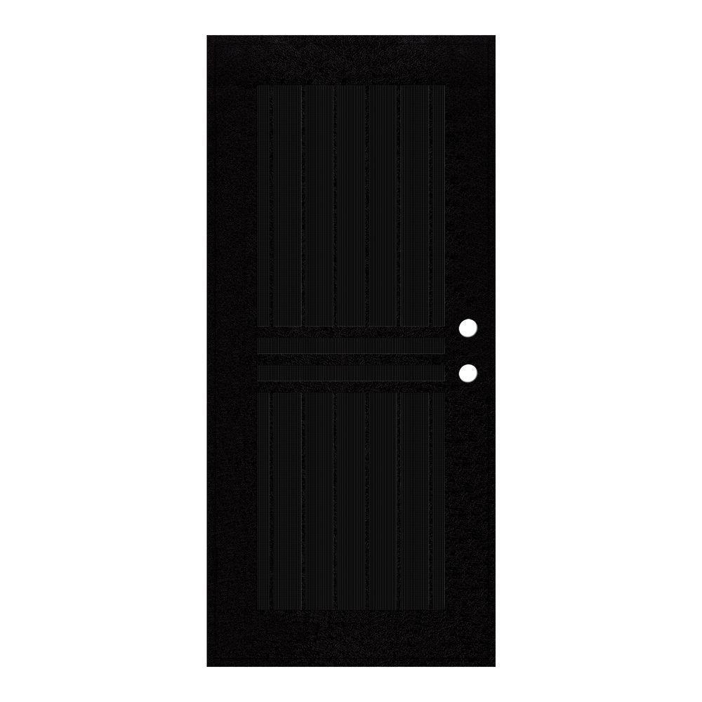 Unique Home Designs 32 In. X 80 In. Plain Bar Black Left Hand