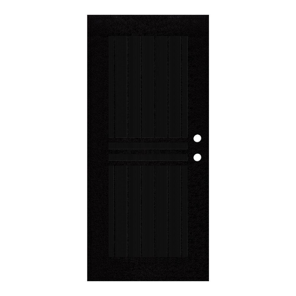 Unique Home Designs 36 In. X 80 In. Plain Bar Black Left Hand