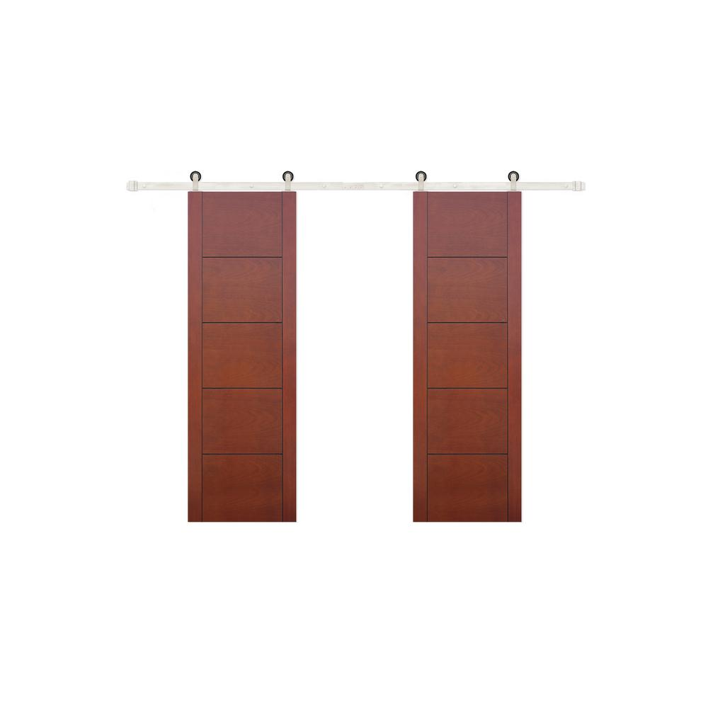 Pacific entries 48 in x 80 in 5 panel prefinished flush - Prefinished mahogany interior doors ...