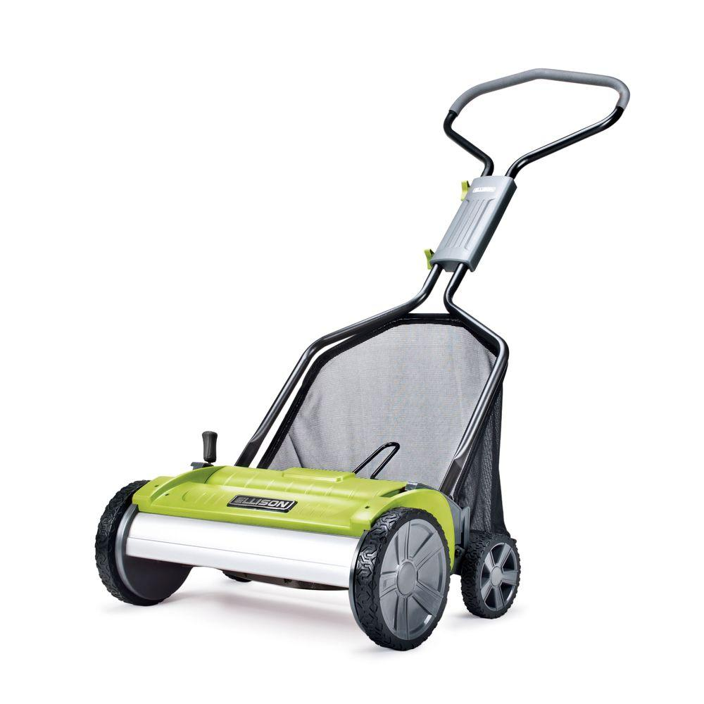 Ellison Evolution 18 in. Easy-Push Reel Mower with Adjustable Grass Management System-DISCONTINUED
