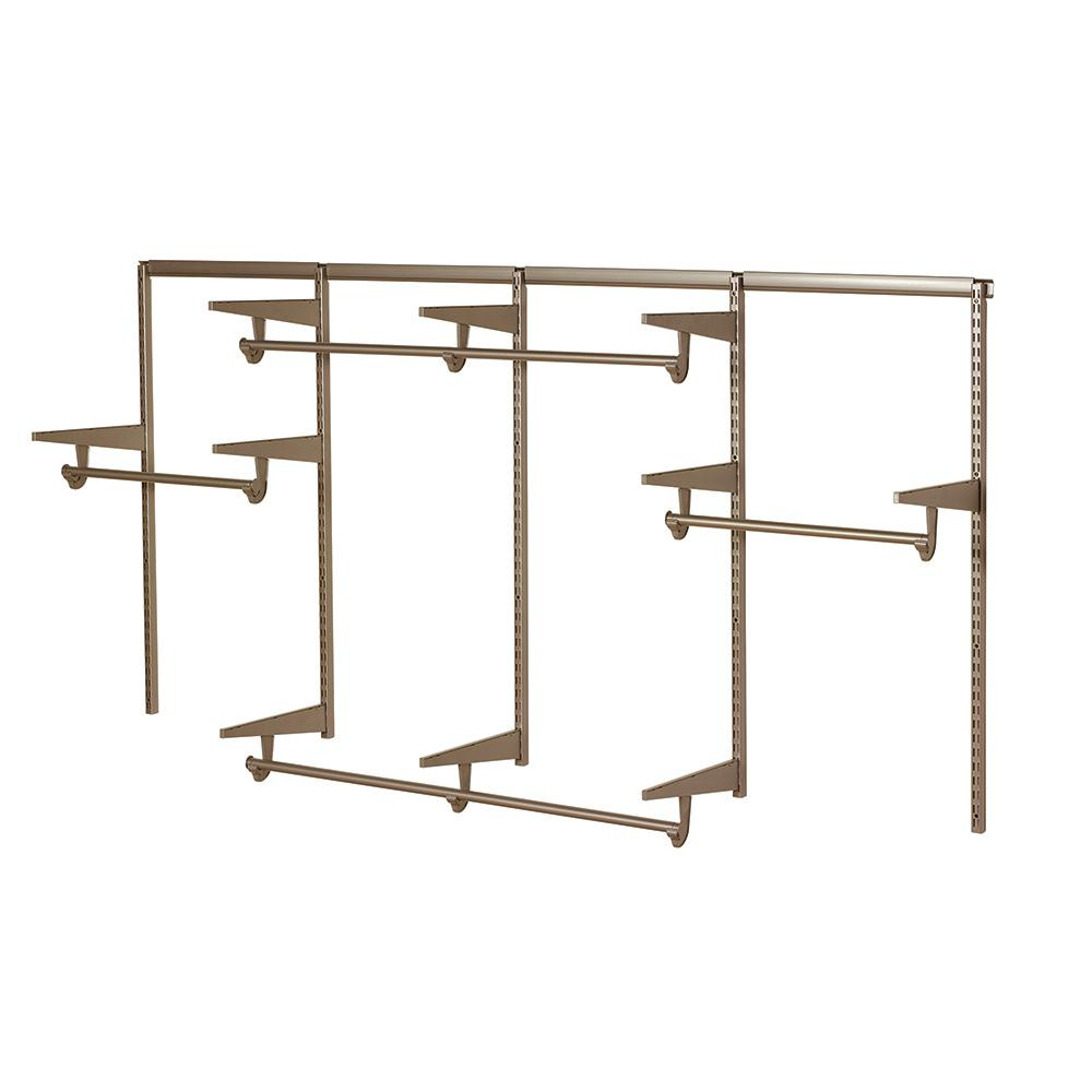 Closet Culture 8 ft. Closet Hardware Kit in Champagne Nickel