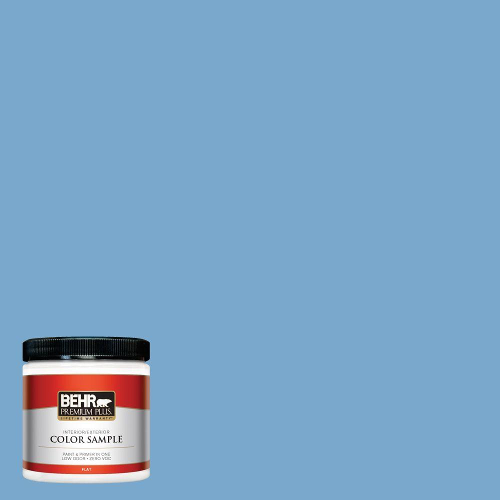 BEHR Premium Plus 8 oz. #M520-4 Mirror Lake Interior/Exterior Paint Sample