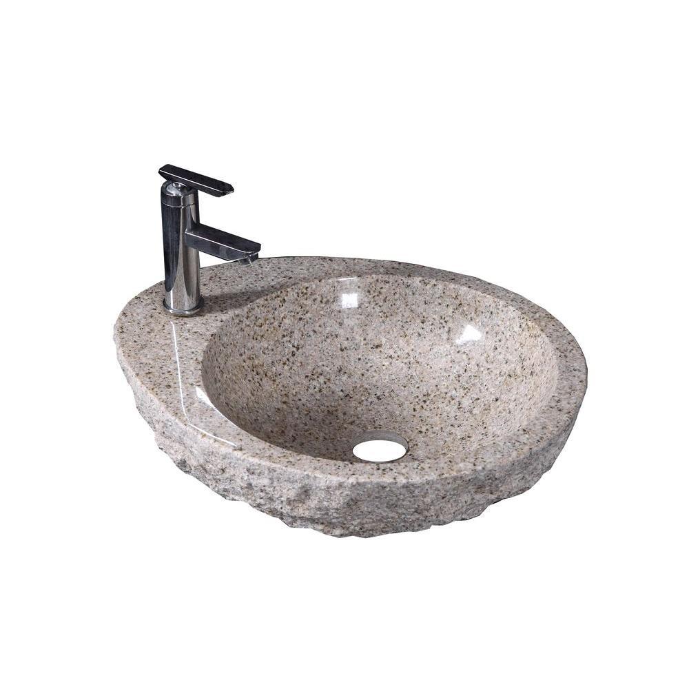 Virtu USA Elysia Vessel Sink in Beige Granite