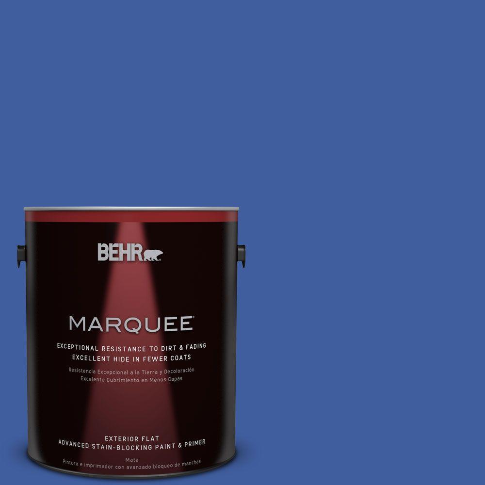 1-gal. #BIC-21 Blue Dahlia Flat Exterior Paint