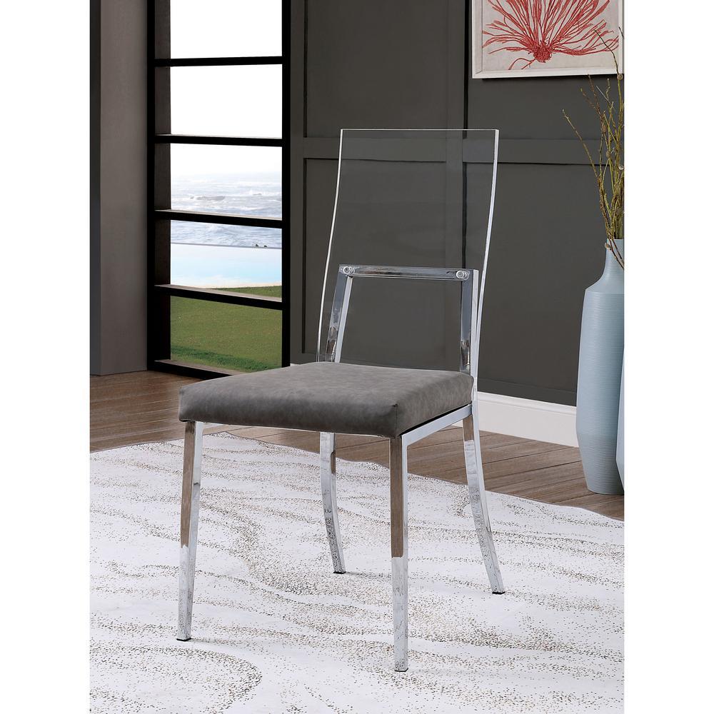 Vinsone Chrome Metal Side Chairs Set Of 2