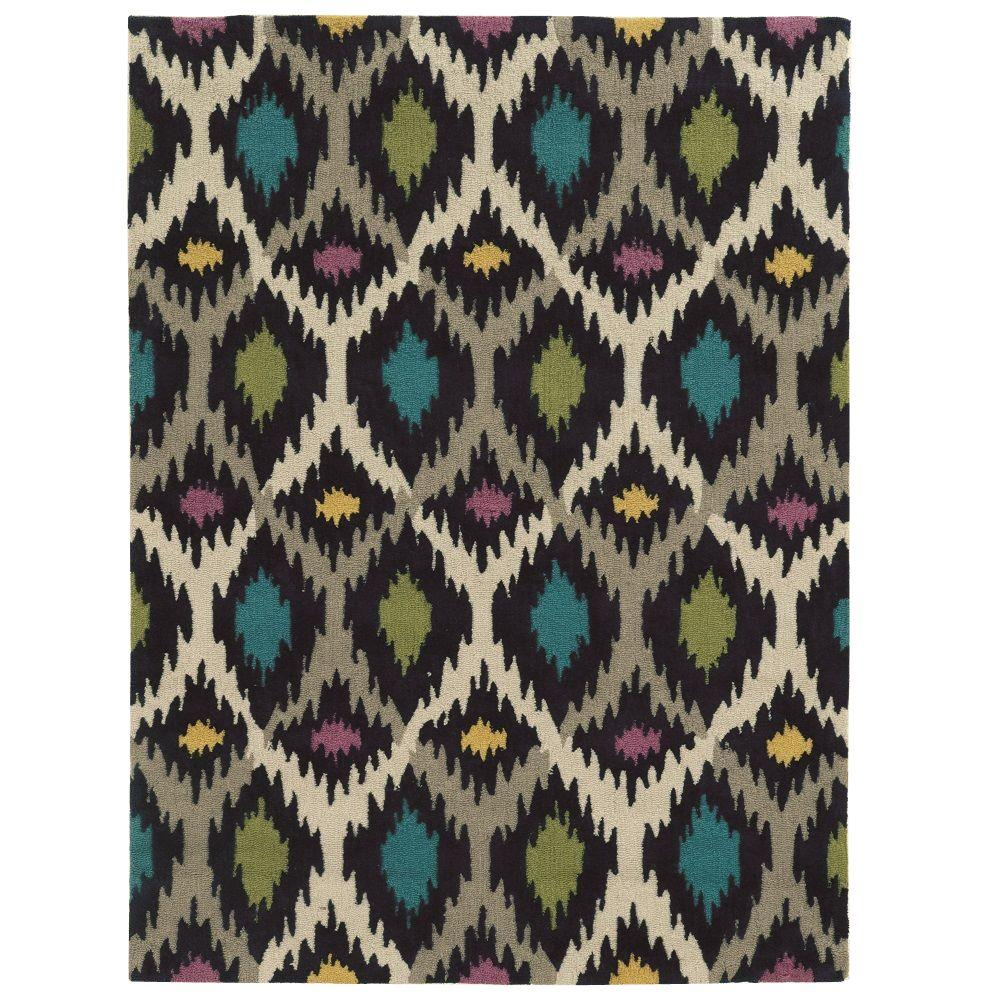 Trio Collection Grey and Multi 5 ft. x 7 ft. Indoor