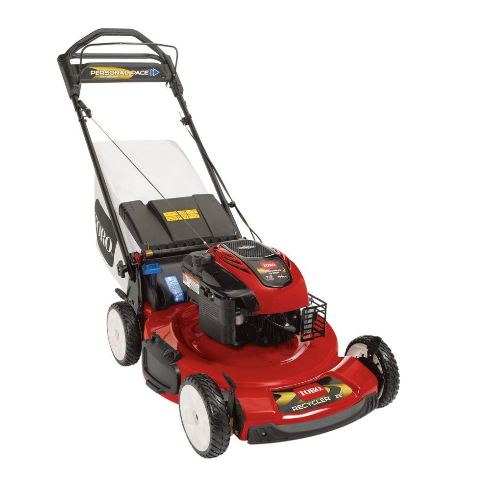 Toro 22 in. Personal Pace Recycler Variable Speed Self-Propelled Power Gas Mower California Compliant-DISCONTINUED