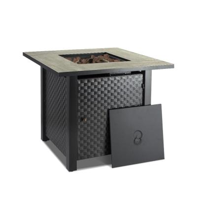 Camplux 30 in. 50,000 BTU Propane Fire Pit Table Outdoor Companion Auto-Ignition Gas Fire Pit Table with Cover