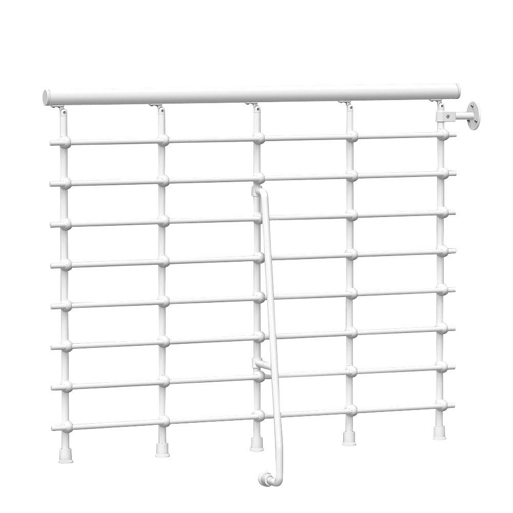 Oak.Xtra 47 in. Metal White Balcony Rail Kit
