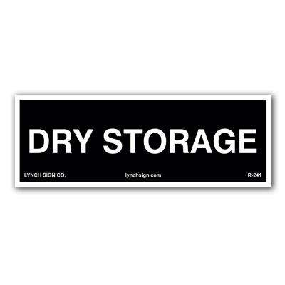 9 in. x 3 in. Dry Storage, Food Safety Decal
