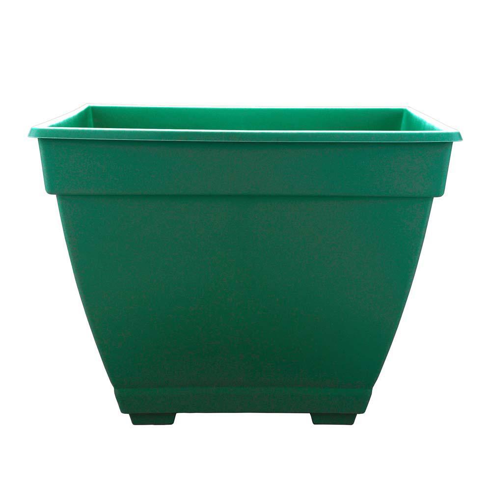 Newbury 14.88 in. x 15 in. Cadmium Green Plastic Plastic Deck Box