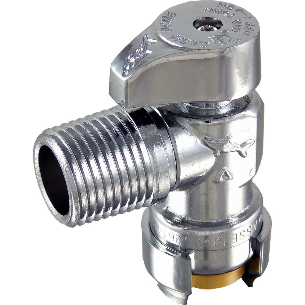 1/2 in. Push-to-Connect x 1/2 in. MIP Brass Quarter-Turn Angle Stop