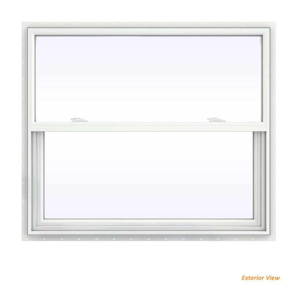 41.5 in. x 35.5 in. V-2500 Series White Vinyl Single Hung