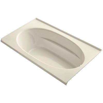 Windward 6 ft. Rectangular Drop-in Right Hand Drain Bathtub with Tile Flange in Almond