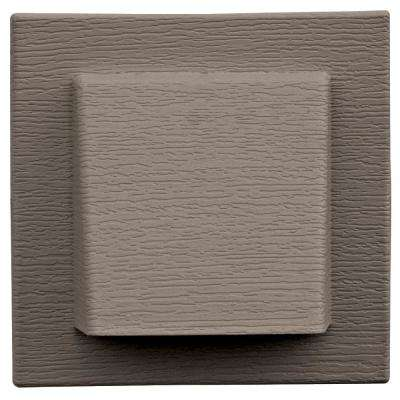 8 in. x 7.875 in. Water Management 4 in. Hooded Vent in Clay