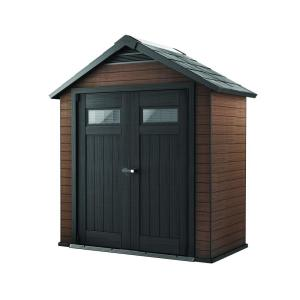 Keter Fusion 7.5 ft. x 4 ft. Wood and Plastic Composite Shed by Keter