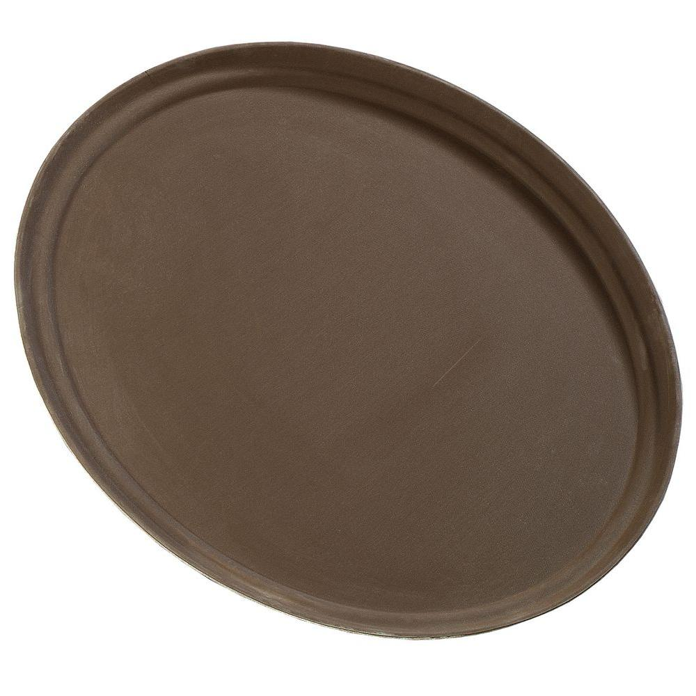22.25 in. x 27 in. Glasteel Oval Tray in Tan (Case
