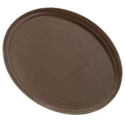 22.25 in. x 27 in. Glasteel Oval Tray in Tan (Case of 6)