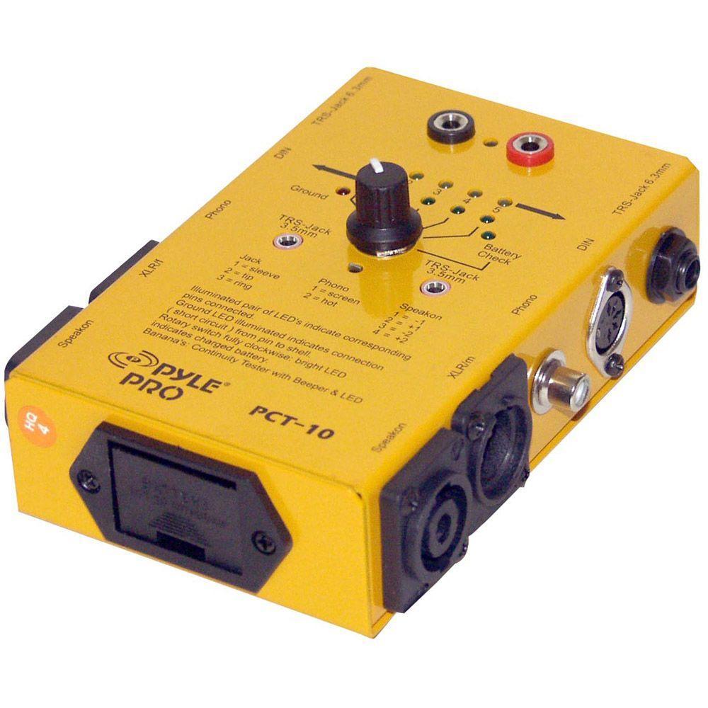 Pyle 8 Plug Pro Audio Cable Tester