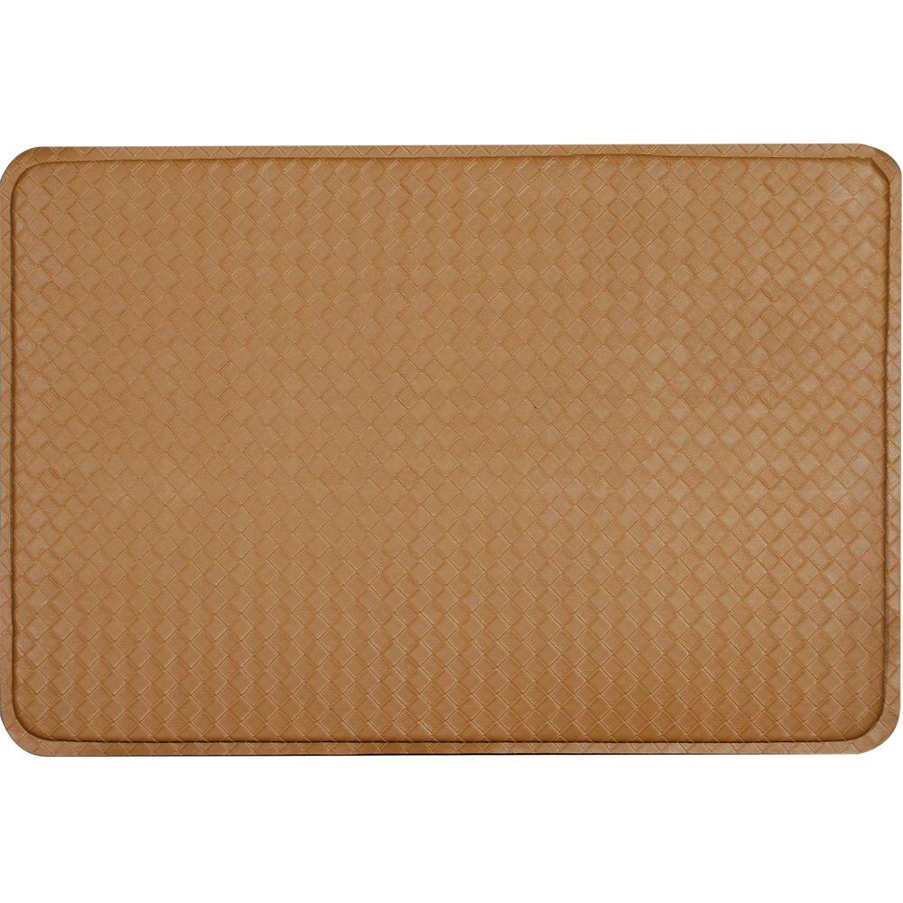 null Camel Brown Anti Fatigue Mat 24 in. x 36 in-DISCONTINUED