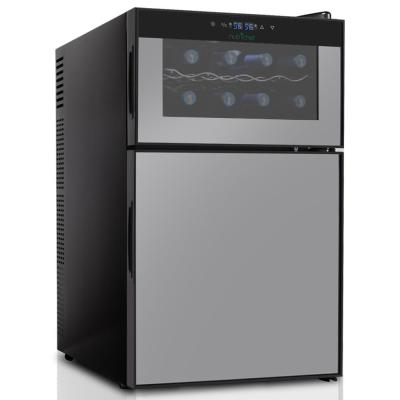 16-Bottle Electric Beverage Fridge - Wine Cellar and Can Beverage Cooler Refrigerator with Digital Touchscreen Controls