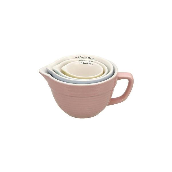 3R Studios 4-Piece Stoneware Measuring Cup Set in Multiple Colors DA1803