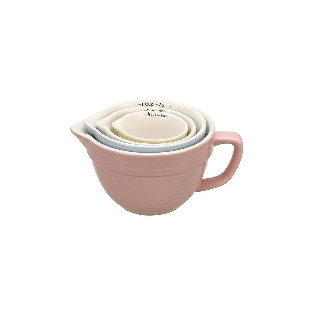 4-Piece Stoneware Measuring Cup Set in Multiple Colors