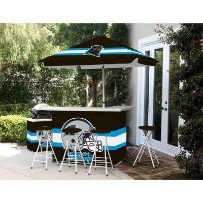 Carolina Panthers All-Weather Patio Bar Set with 6 ft. Umbrella